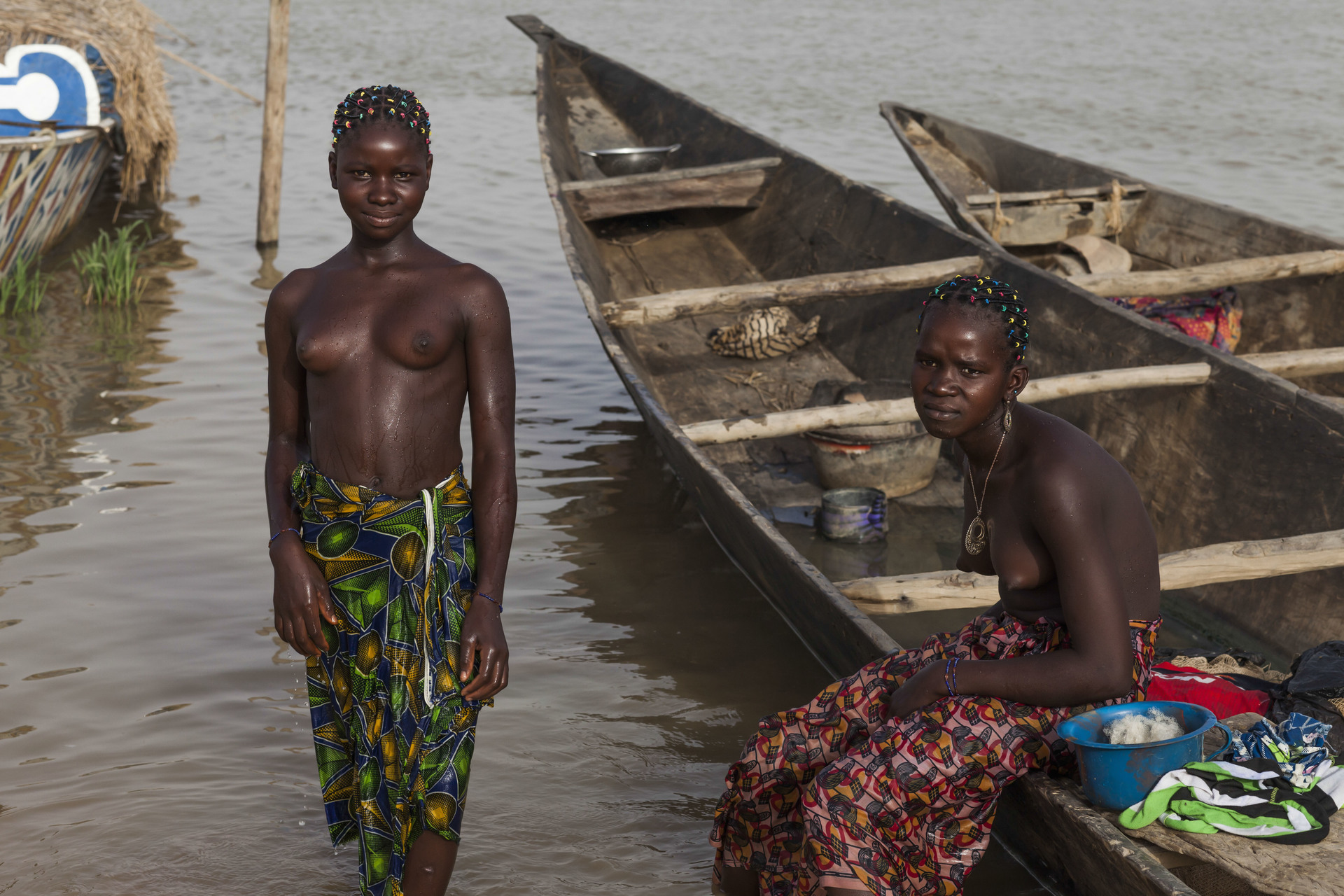 African girls naked in river #6